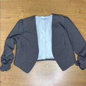 Charlotte Russe Black and White Crop Blazer Size M